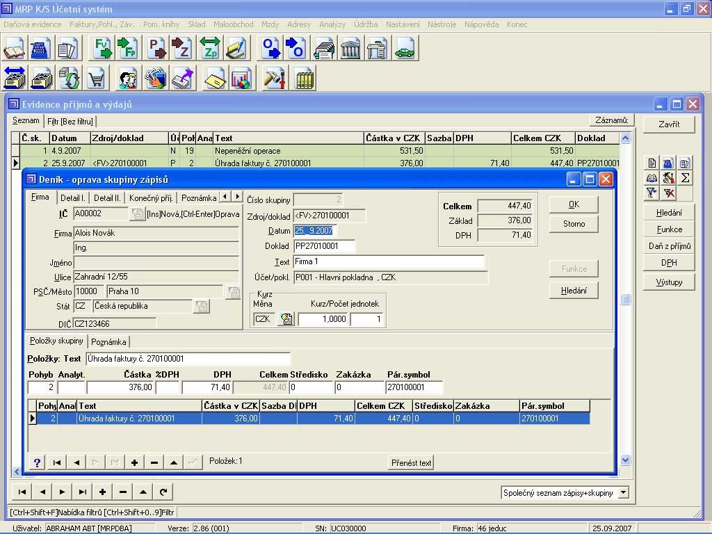 Ing M 237 ťa Sochor Mrp Software